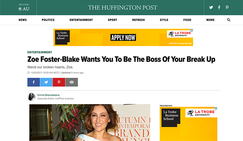The Huffington Post coverage of Break-Up Boss