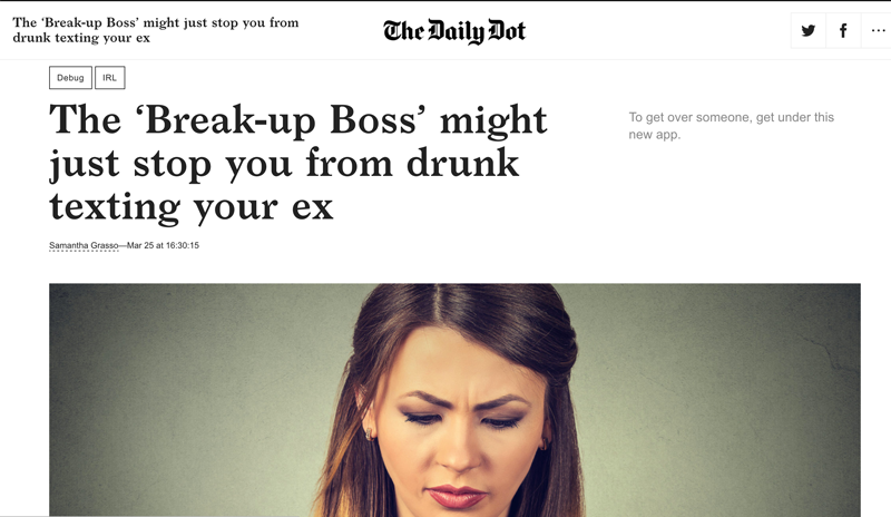 The Daily Dot coverage of Break-Up Boss