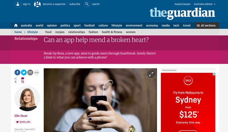 The Guardian coverage of Break-Up Boss